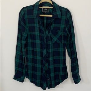 plaid button up top by RAILS